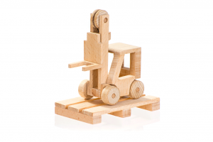 wooden forklift toy