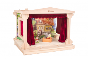 wooden puppet theatre for kids