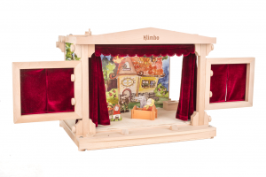 wooden puppet theater for kids