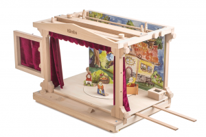 wooden theater with rotating stage