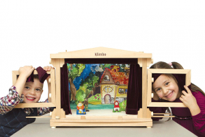 wooden theater for developing kids imagination
